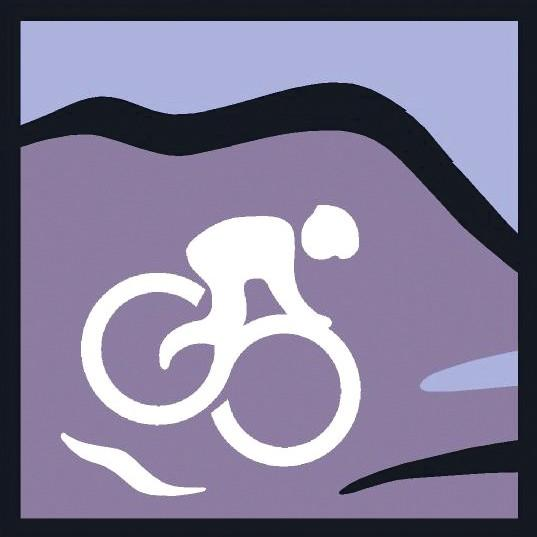 Person on bike as part of Great Glen Ways Logo