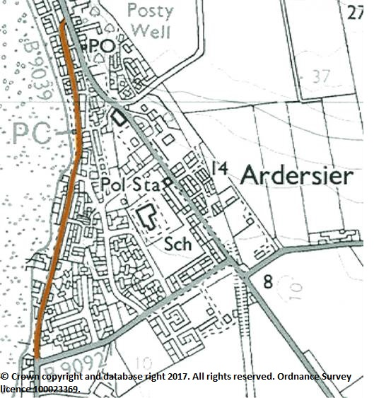 ardersier traffic order map