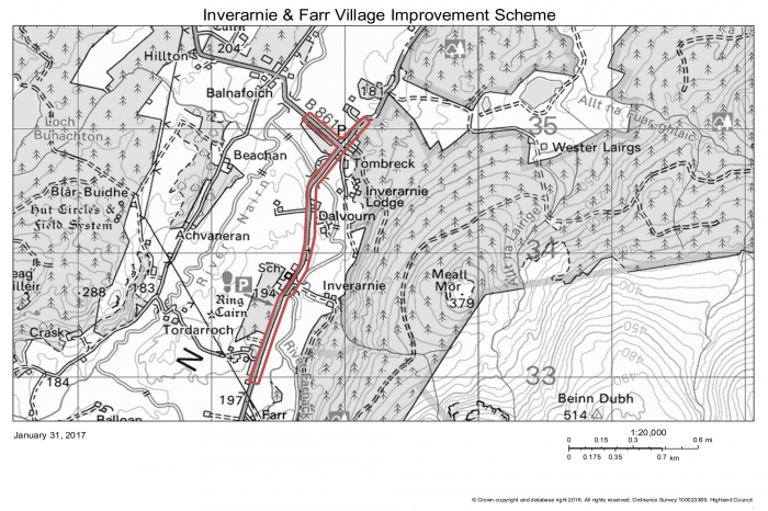 Inverarnie and Farr scheme location plan