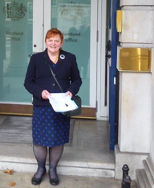 Leader Davidson at the Scotland Office, London