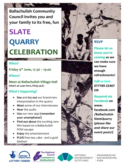 Ballachulish quarry celebration poster