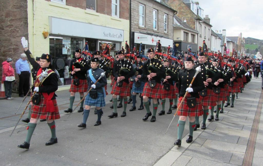 Beating the Retreat on Dingwall High Street