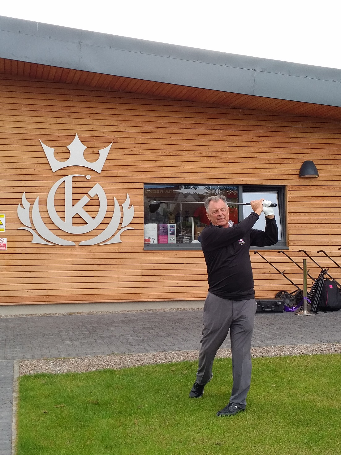 •	Bernard Gallacher OBE (3 times Ryder Cup European Captain) at Kings Golf Club, Inverness