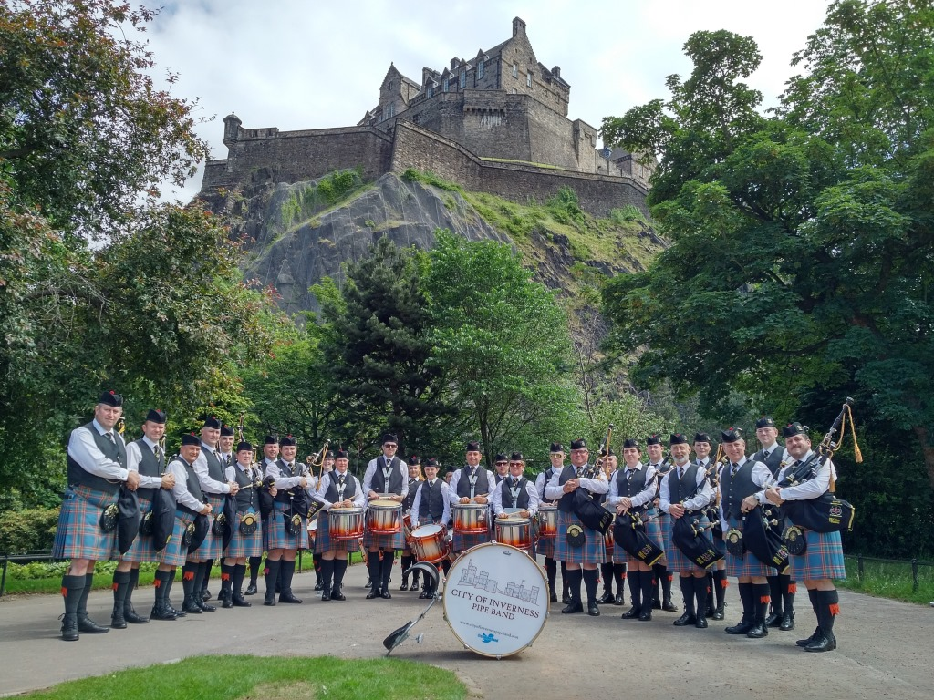 City of Inverness Pipe Band at Edinburgh
