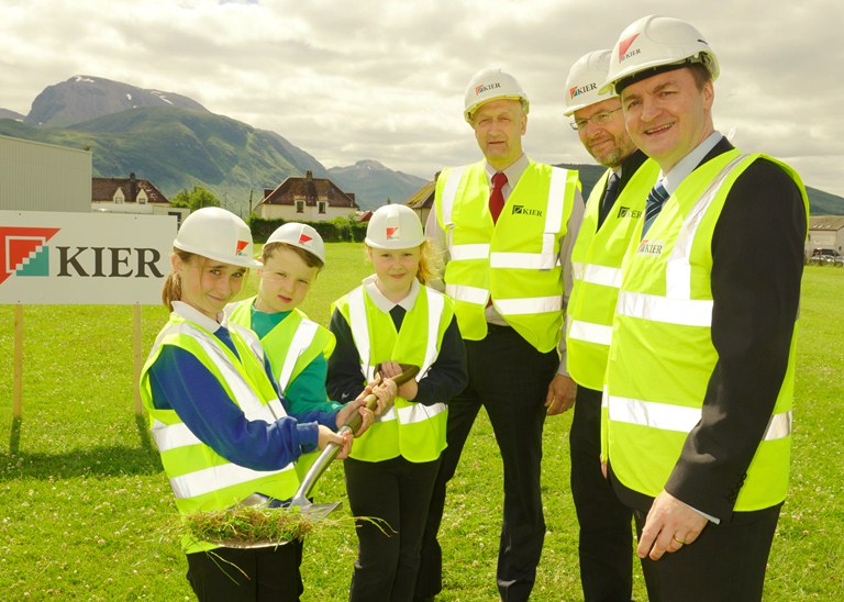 Photo of Caol campus turf cutting