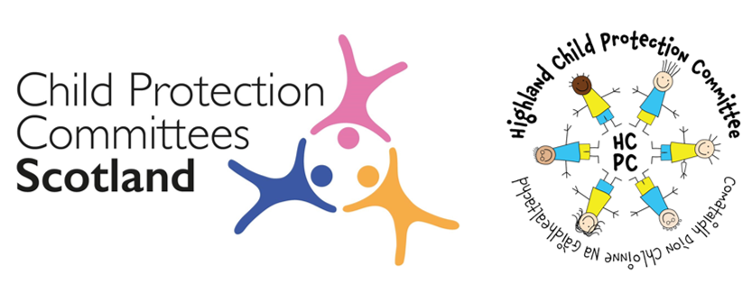 •	Child Protection Committees Scotland Logo and Highland Child Protection Committee Logo