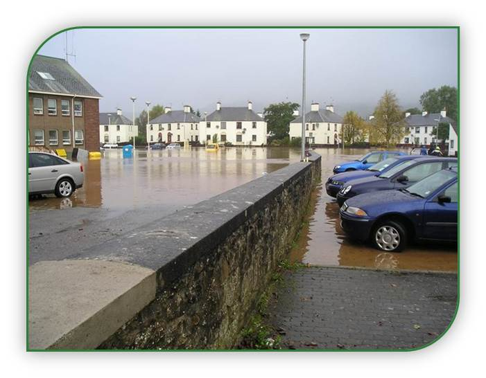 photo of flooding in Dingwall