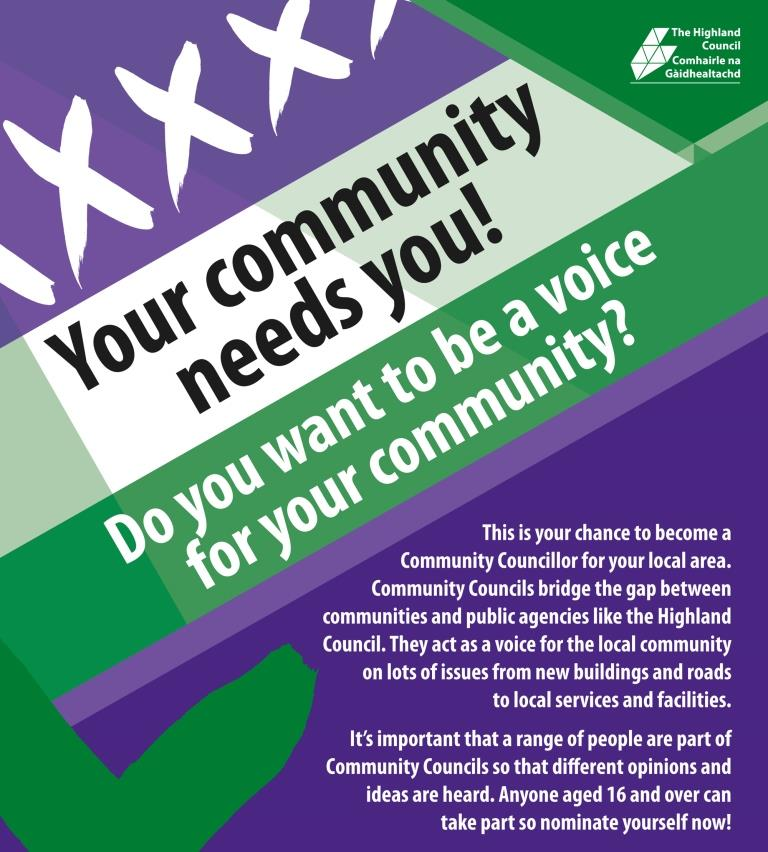 Your community needs you...