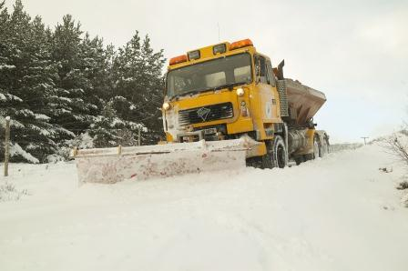 Highland Council Gritter in action
