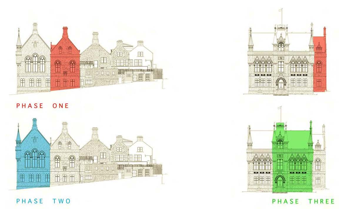 Inverness town house works phases