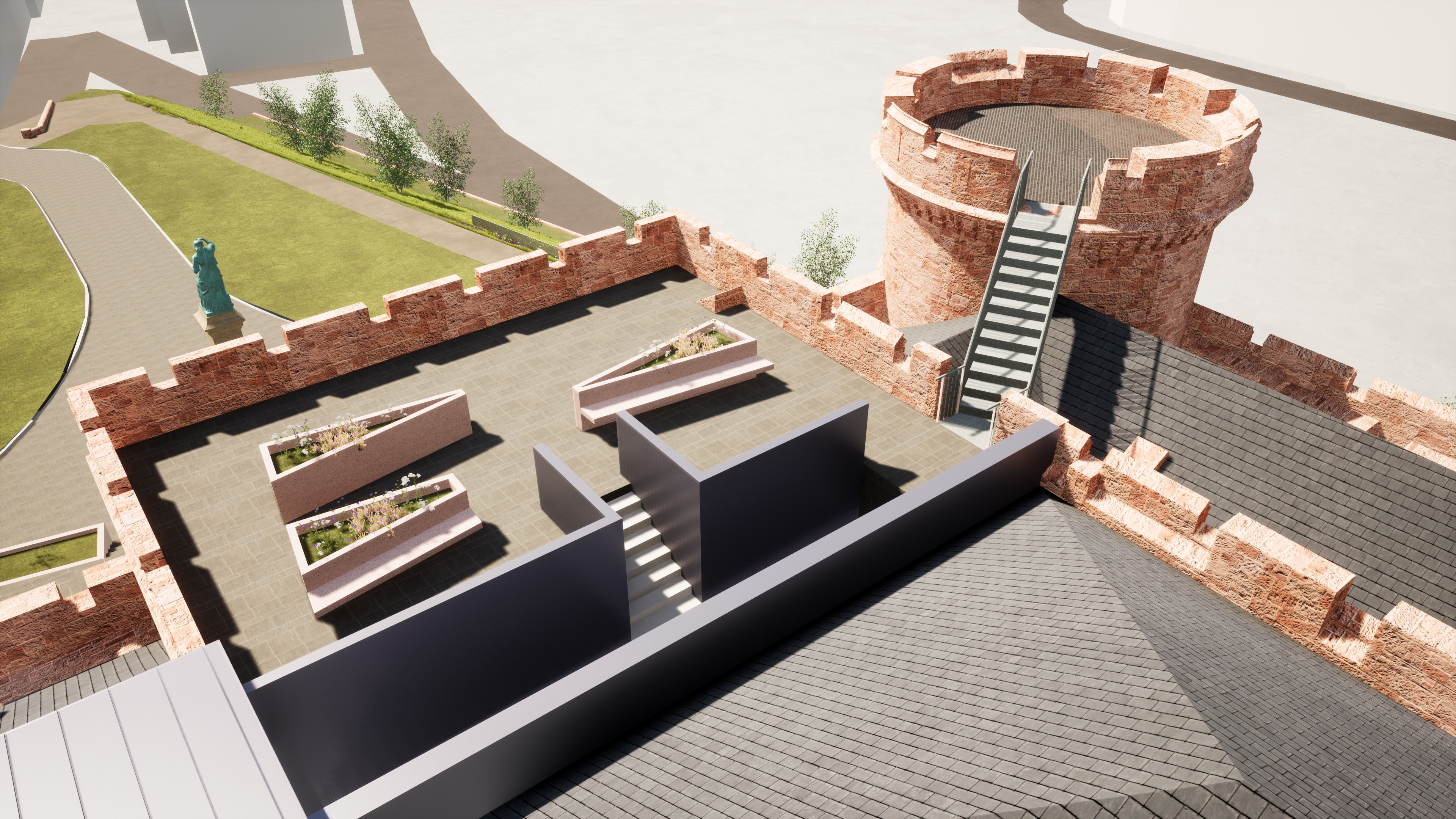 LDN Architects – impression of South Tower Roof Terrace