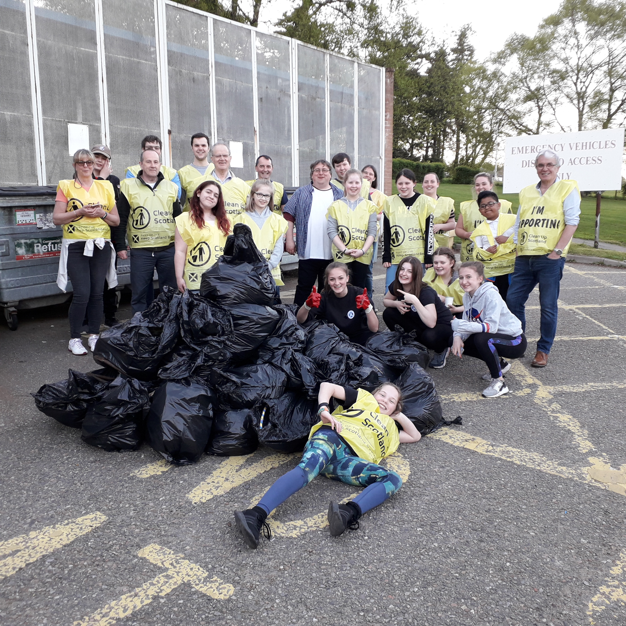 Litter collected by volunteers