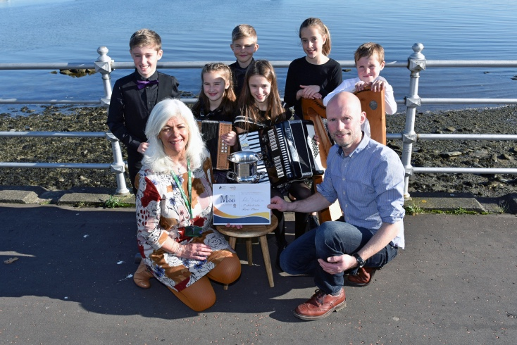 Clann Thròndairnis from Skye won top prize in the Folk Group Competition for Under 13 year olds at the Royal National Mòd in Dunoon