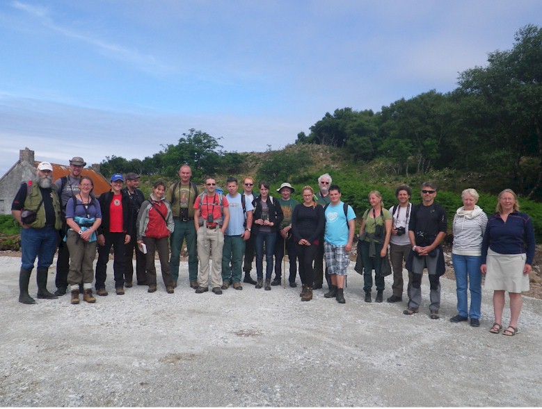 At the Plock of Kyle, 16th June. From leftJames Merryweather, Jeanette Hall HBRG, The Grundtvig Exchange Visitors and to tright Valerie Watson and Fiona Begg of the Kyle and Lochalsh Community Trust.