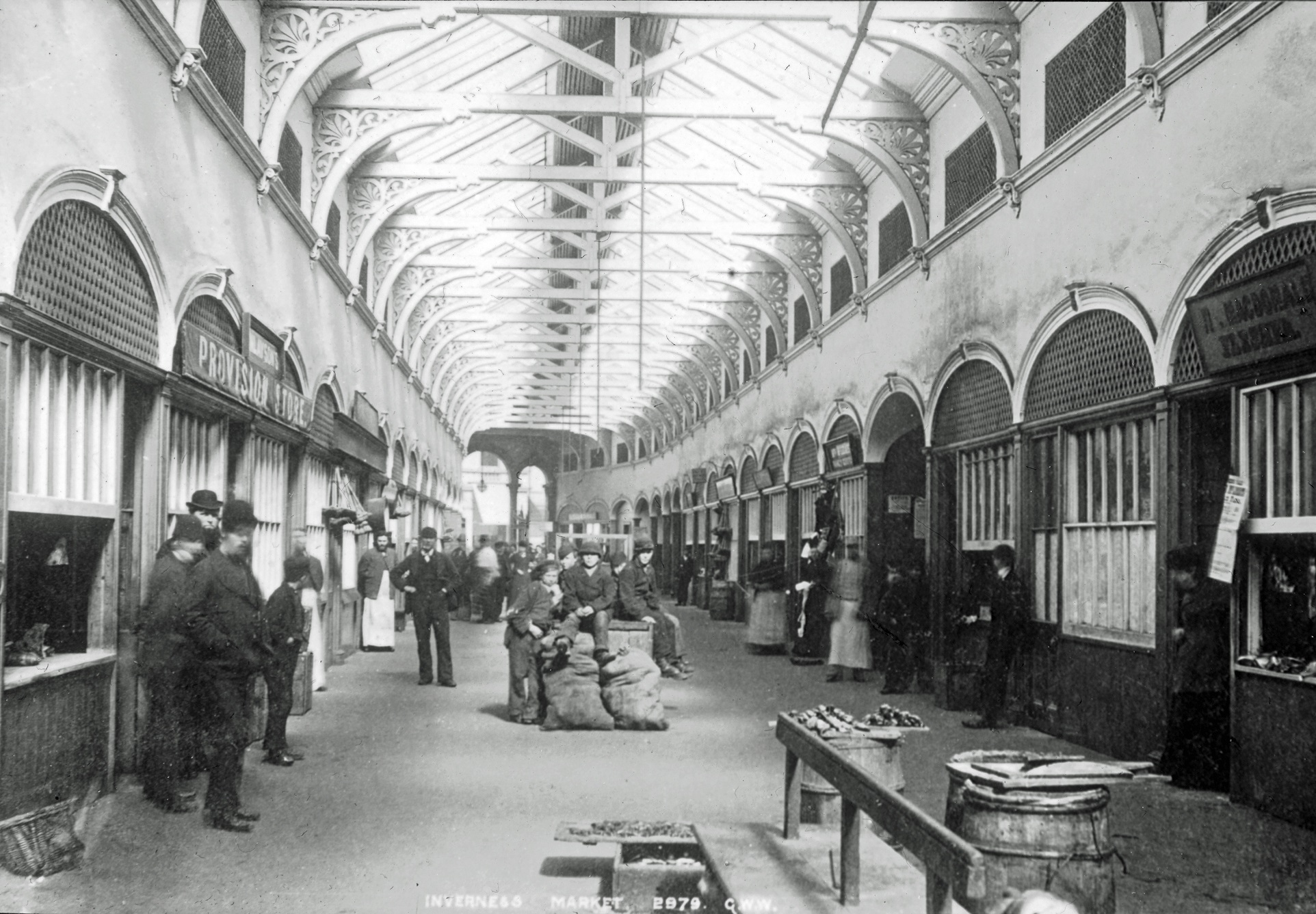 Victorian Market Inverness Copyright Joseph Cook Collection, Inverness Museum & Art Gallery