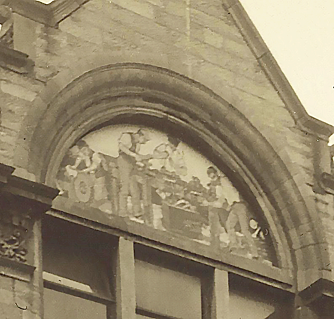 Historic image of the missing Mosaic at 96 Academy Street; courtesy of Highlife Highland Archive Service, circa 1905.