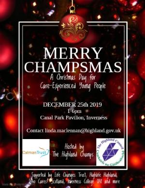 Poster for CHAMPS Christmas event