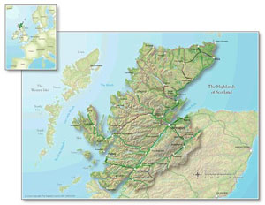 Map of the Highlands